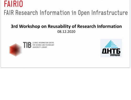 REUSABILITY OF RESEARCH INFORMATION